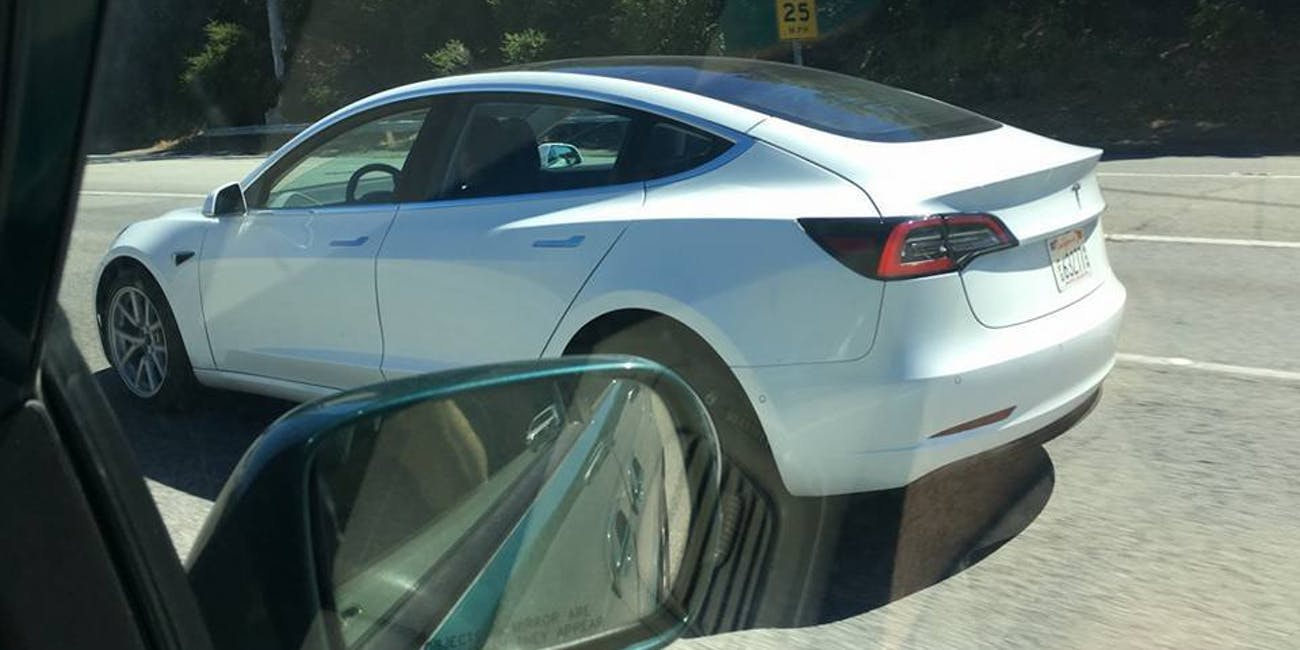 Pre-Release Tesla Model 3 Spotted with Stunning Glass Roof ...