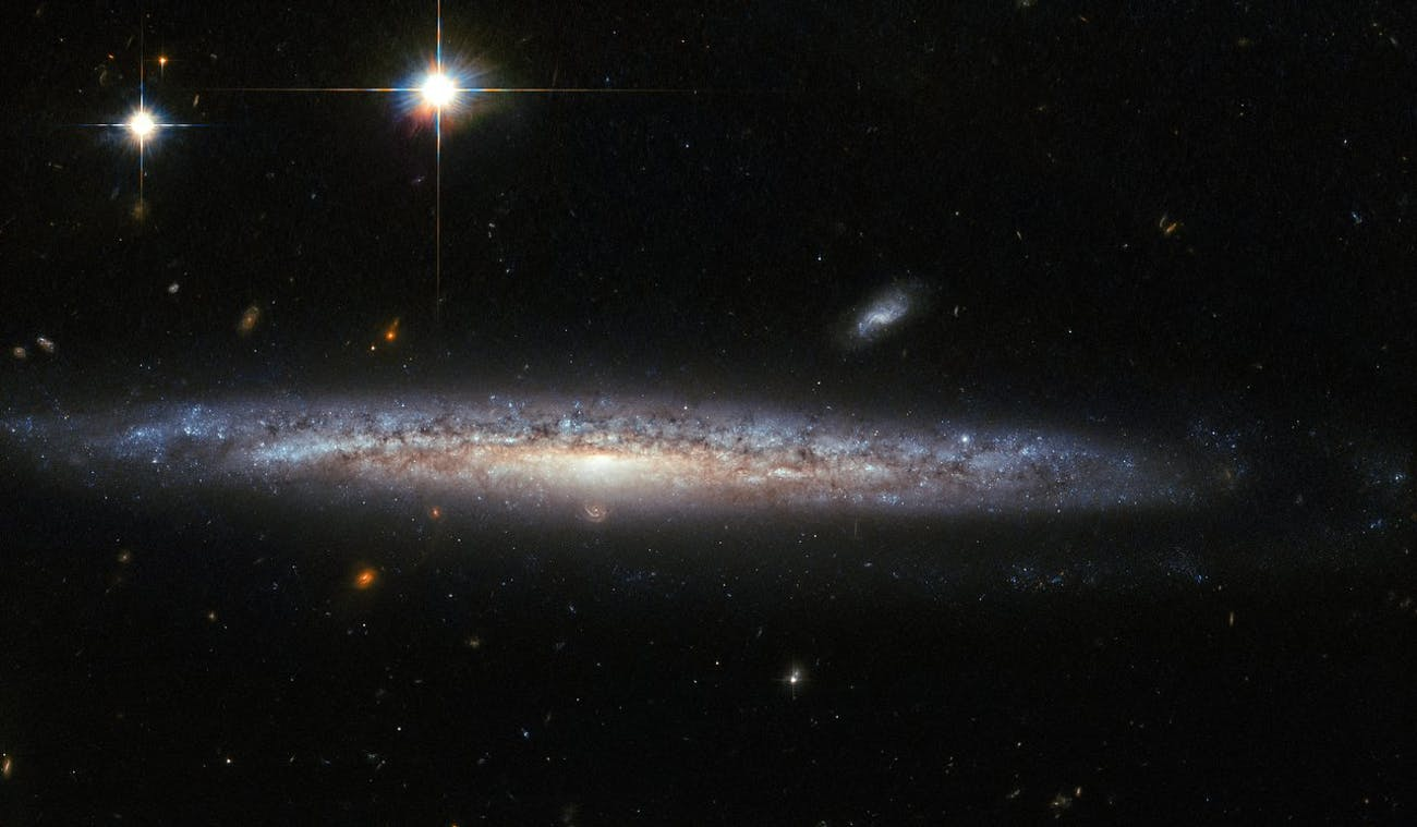 Discovered by William Herschel in 1787, NGC 5714 was host to a fascinating and rare event in 2003 known as a calcium-rich supernovae.