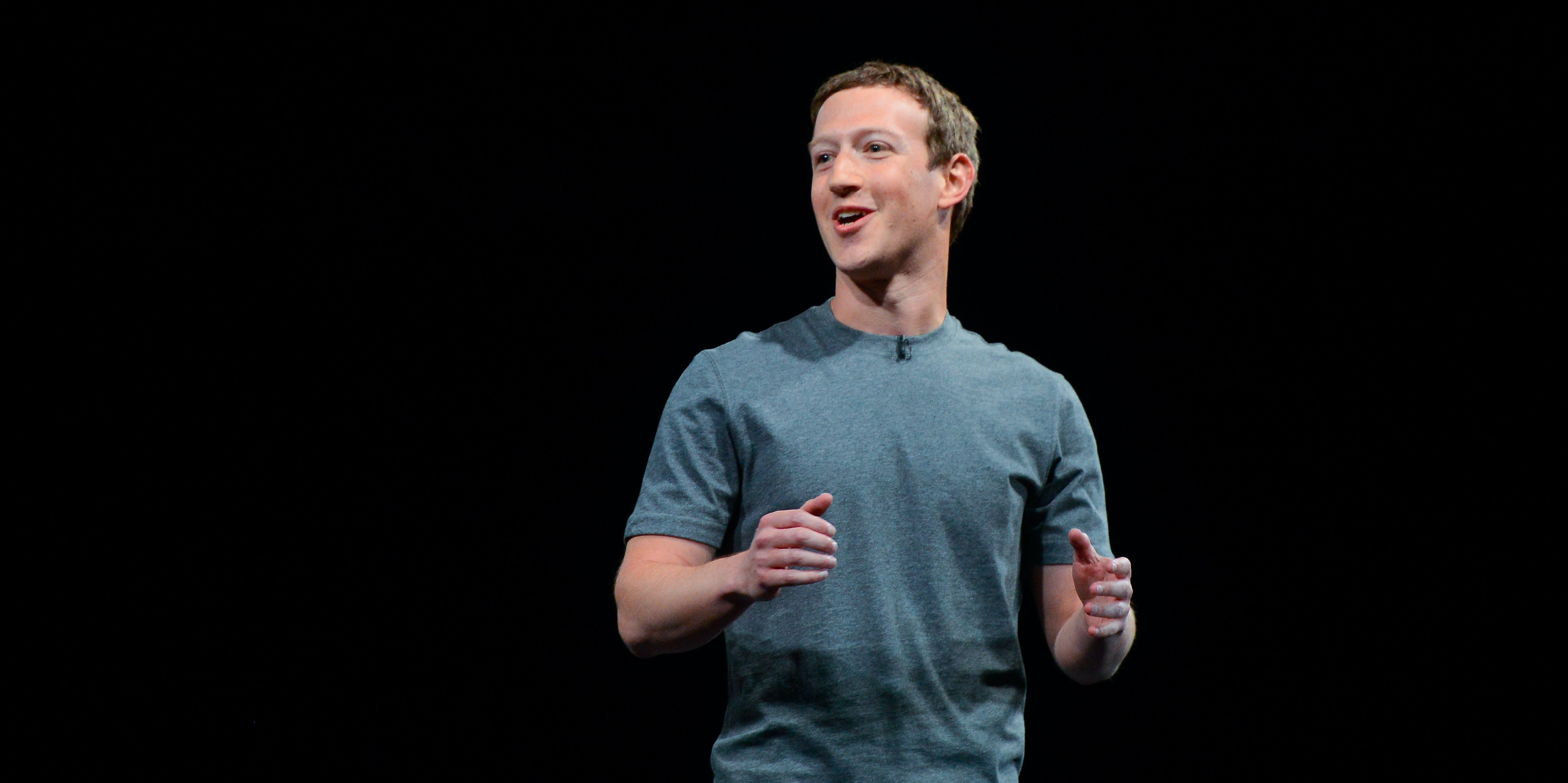 Founder and CEO of Facebook Mark Zuckerber gives his speach during the presentation of the new Samsung Galaxy S7 and Samsung Galaxy S7 edge on February 21, 2016 in Barcelona, Spain. The annual Mobile World Congress will start tomorrow and will host some of the world's largst communication companies, with many unveiling their last phones and gadgets.