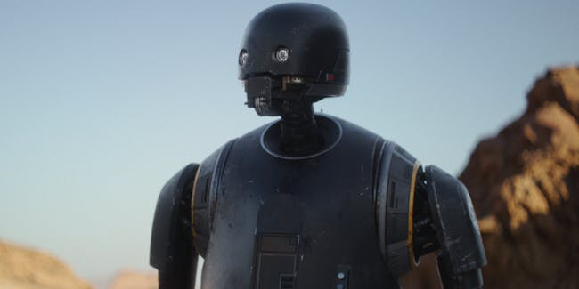 Alan Tudyk as K-2SO in 'Rogue One'