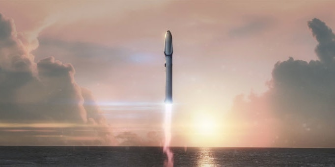 Elon Musk suggested that SpaceX shipping could be a thing.