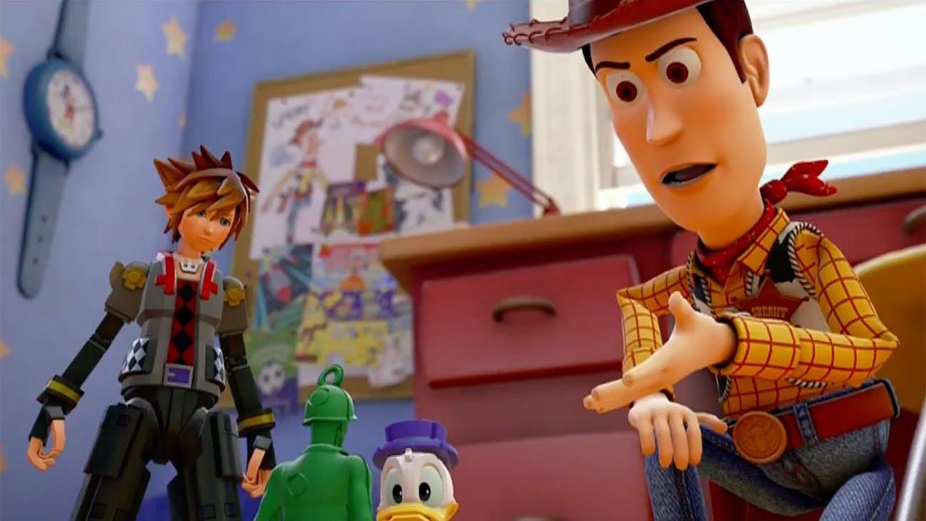 'Kingdom Hearts III' has a world devoted to 'Toy Story'.