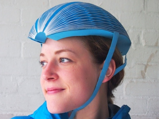This Foldable Paper EcoHelmet is Perfect for Bike Rentals