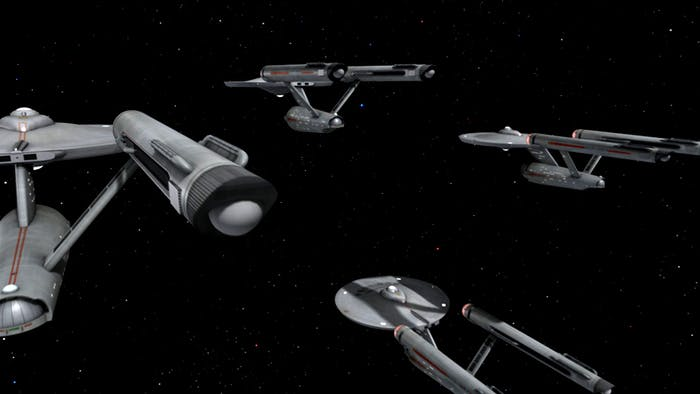"""Several starships in the original series episode """"The Ultimate Computer'"""