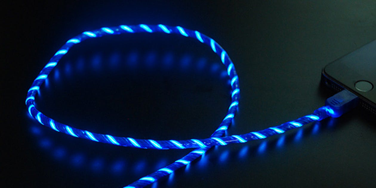 Glowing iOS Lightning Charging Cable