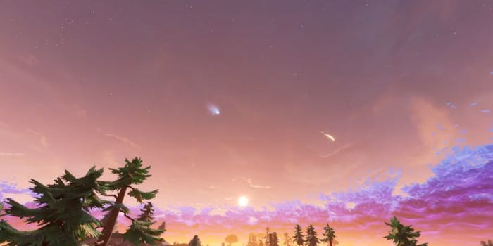 Fortnite meteor shower