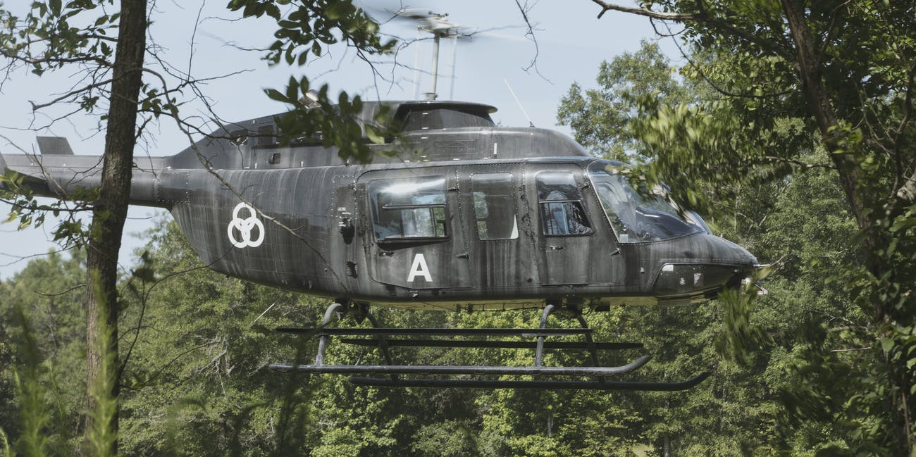 The Walking Dead Three Circles Helicopter