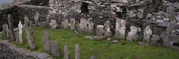 The monastery graveyard on Skelling MIchael island.