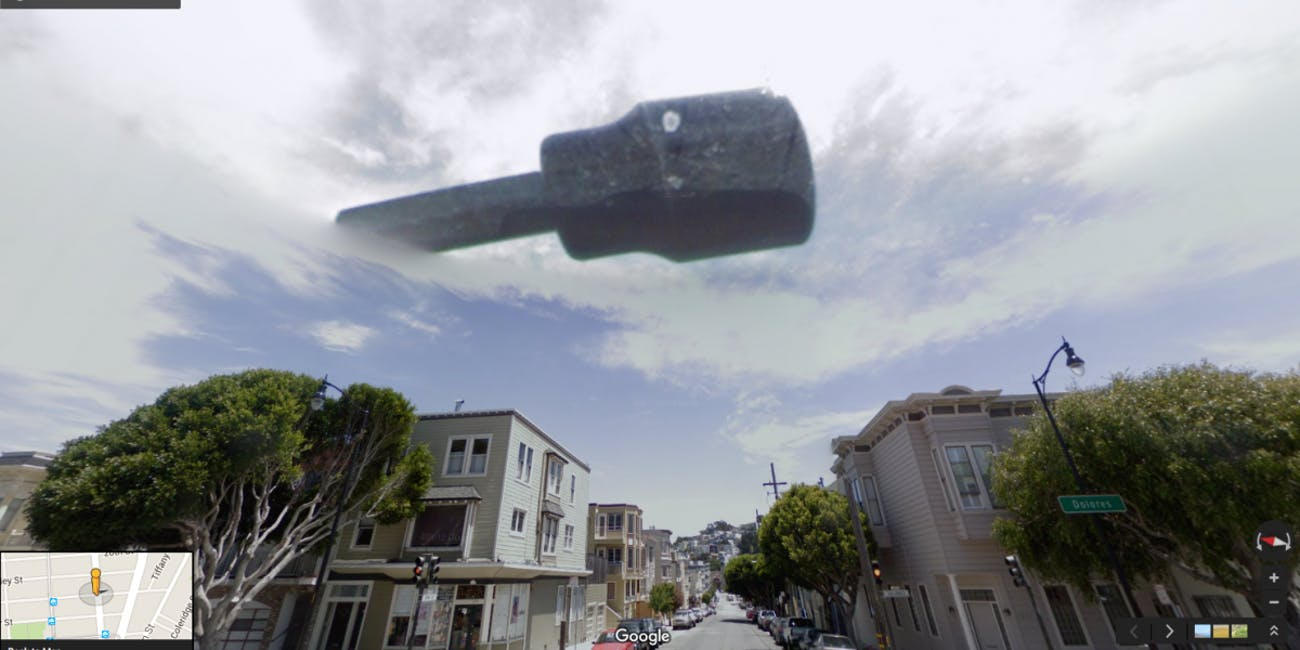 Aliens UFO San Francisco Google Street View Images