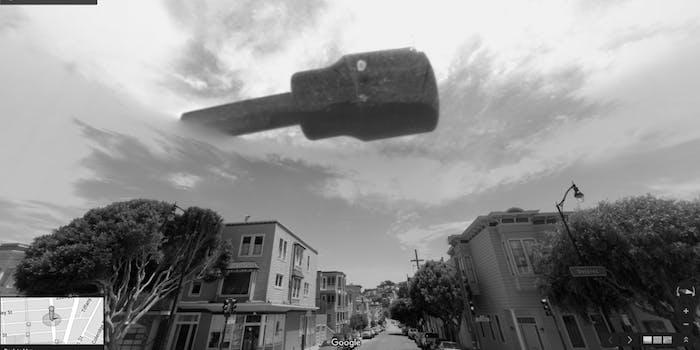 Aliens UFO San Francisco Google Street View Images