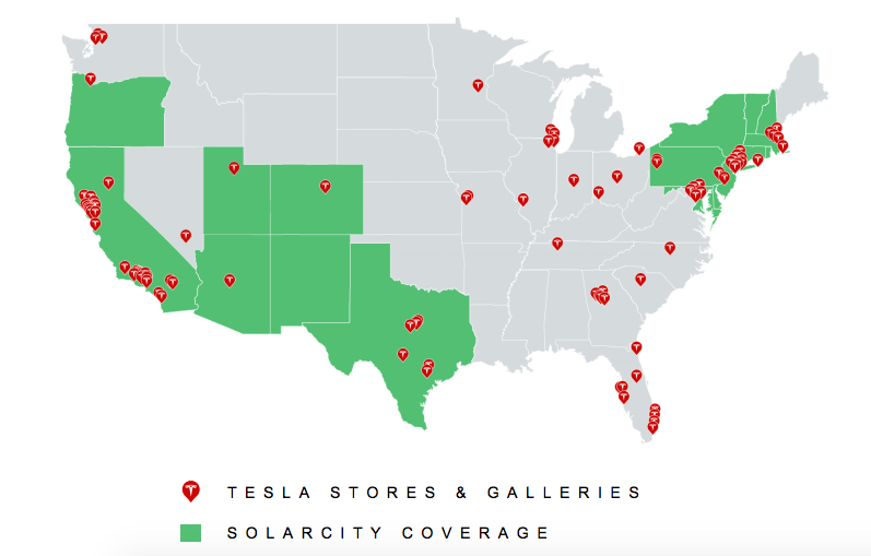 The current integration of Tesla and SolarCity.