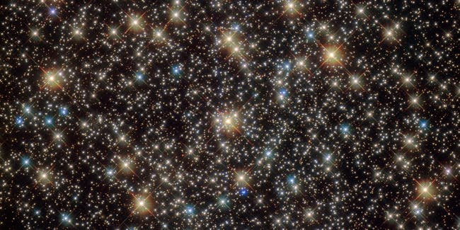This image from the NASA/ESA Hubble Space Telescope shows the central region of the rich globular star cluster NGC 3201 in the southern constellation of Vela (The Sails).