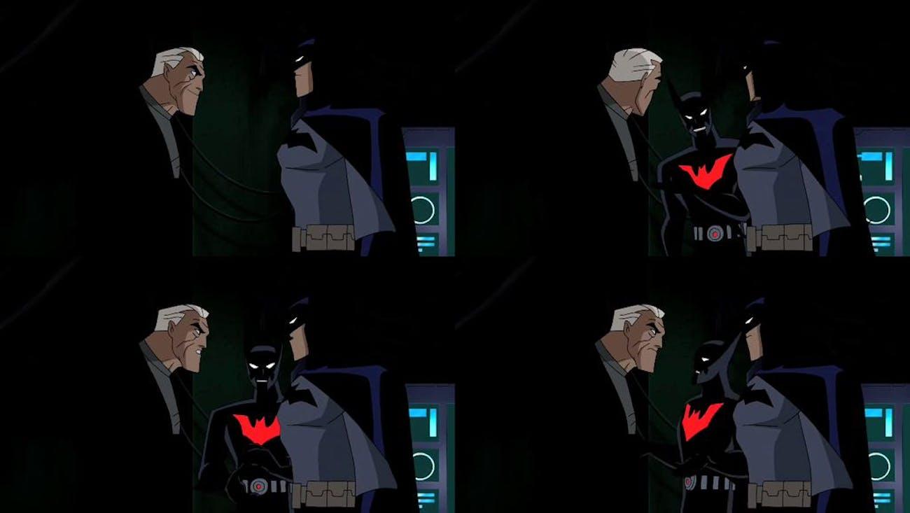 justice league unlimited old bruce wayne batman beyond