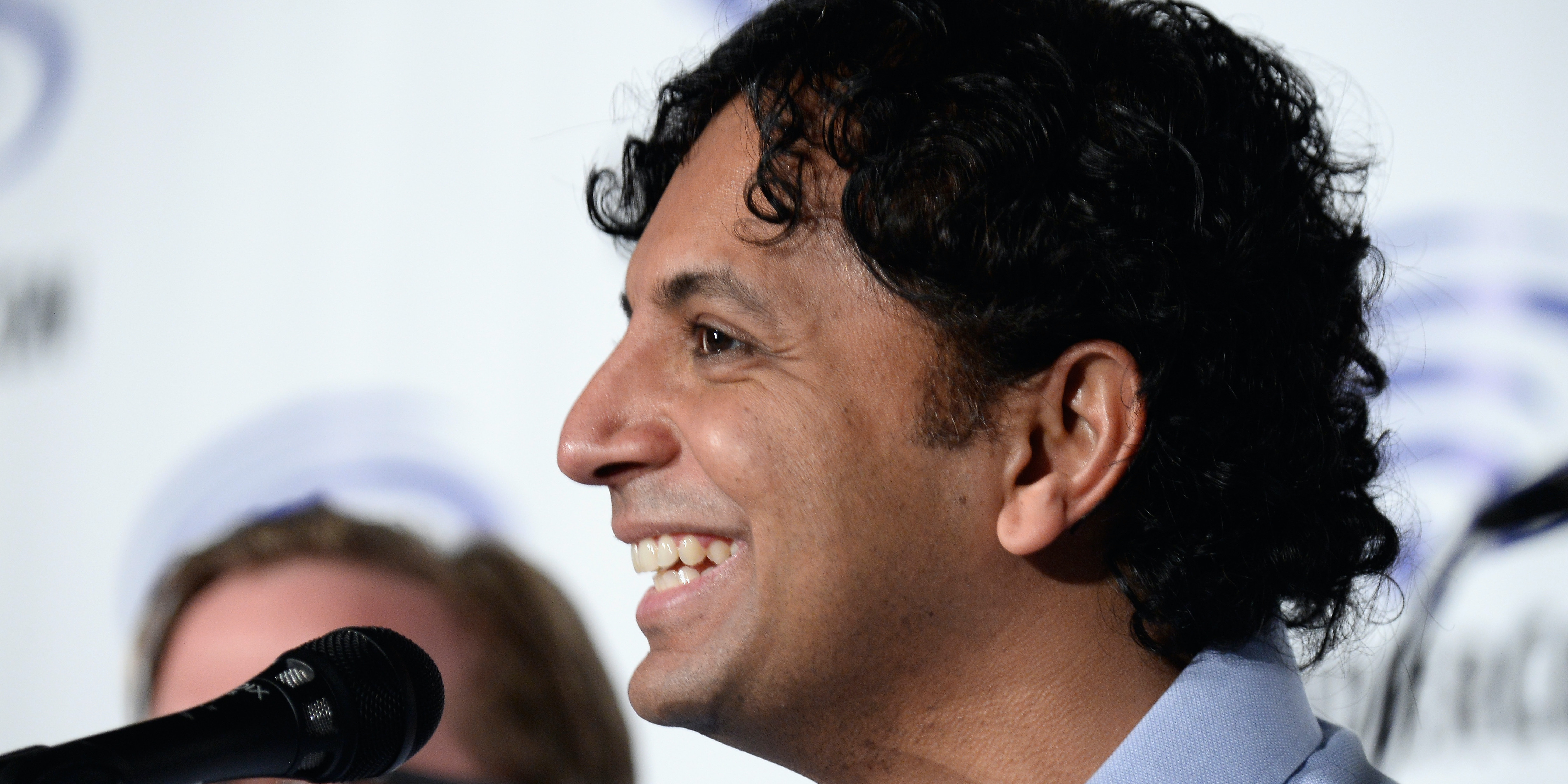 LOS ANGELES, CA - MARCH 26:  Producer/Director M. Night Shyamalan attends the Wayward Pines panel at WonderCon 2016, Day 2 at Los Angeles Convention Center on March 26, 2016 in Los Angeles, California.  (Photo by Frazer Harrison/Getty Images)