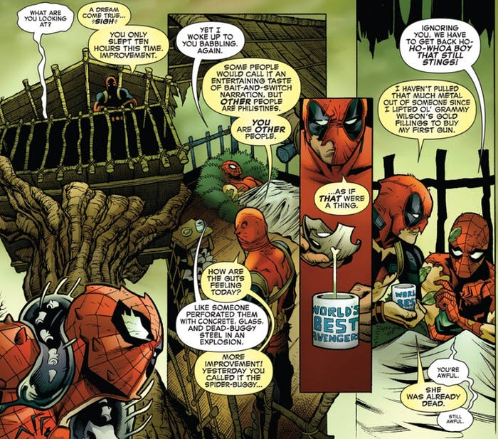 Spider-Man/Deadpool #13 panel from Marvel Coics
