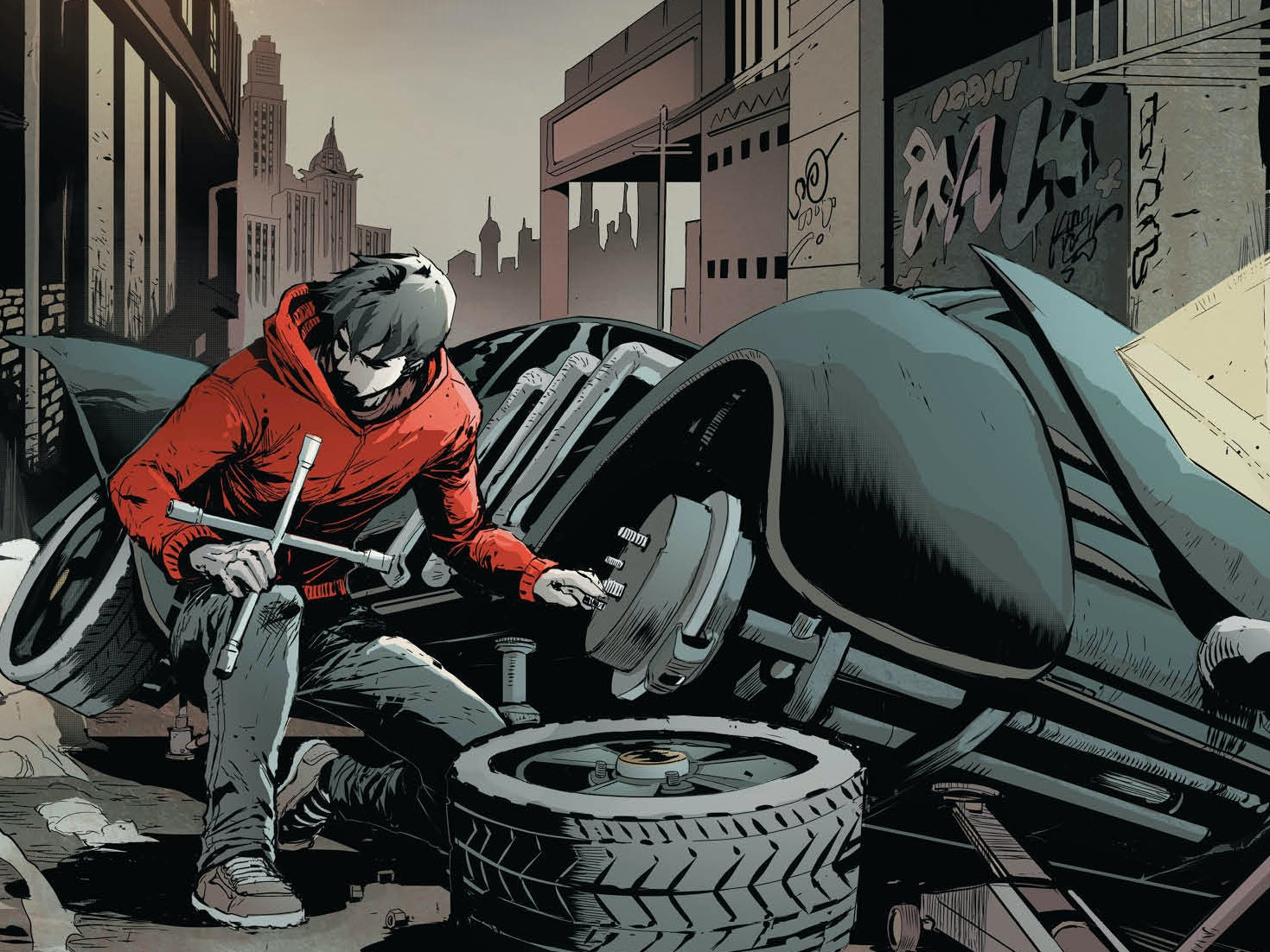 Jason Todd Meets Batman in 'Red Hood and the Outlaws' Preview