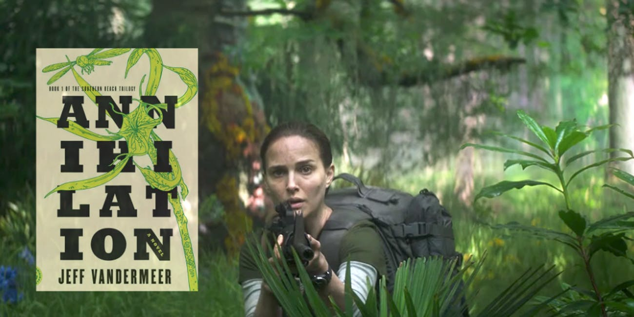 Natalie Portman stars in 'Annihilation', based on the book by Jeff Vandermeer.
