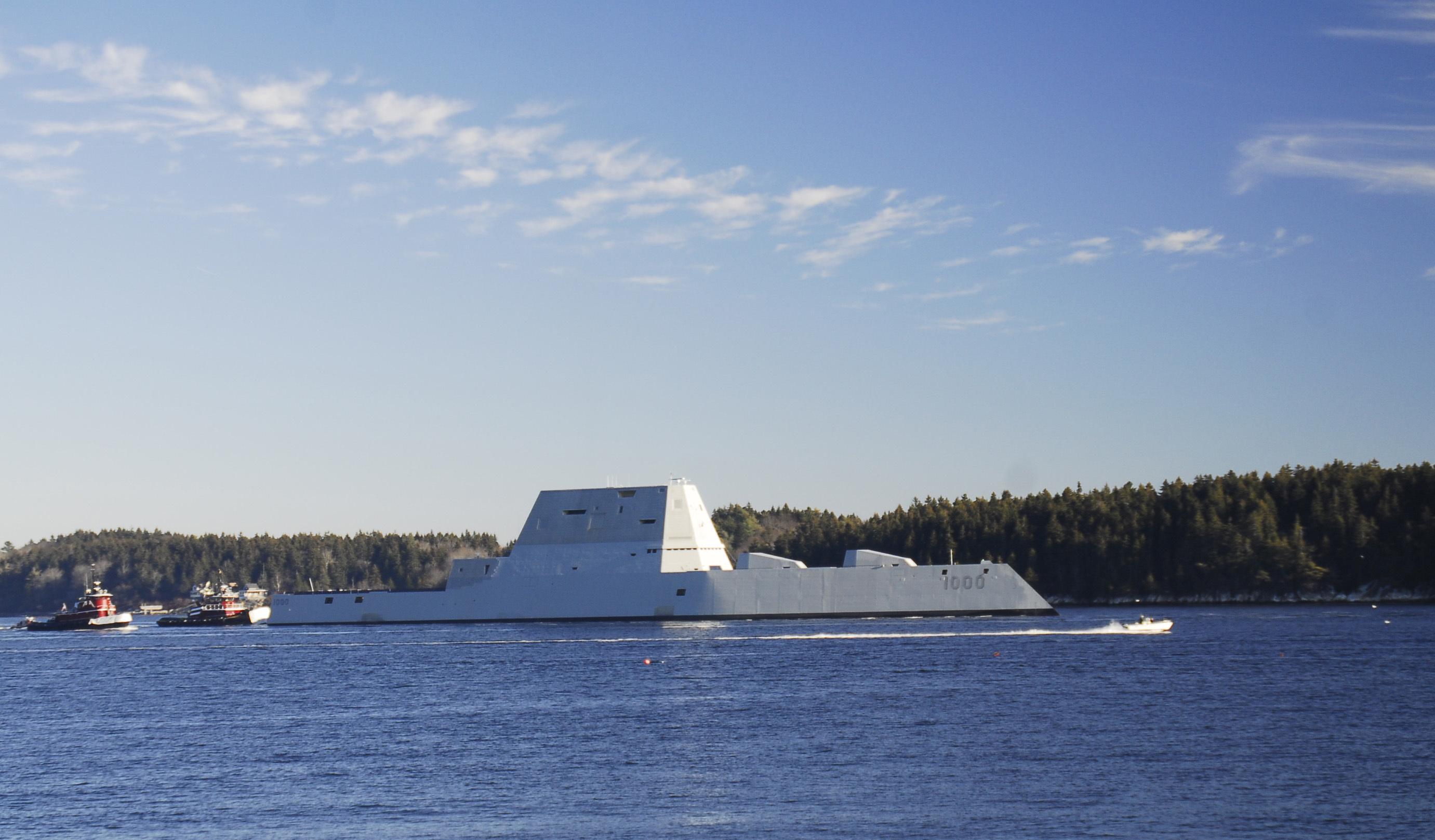 The USS Zumwalt, The Warship That Looks Like A Fishing Boat On Radar, Heads  To Sea   Inverse