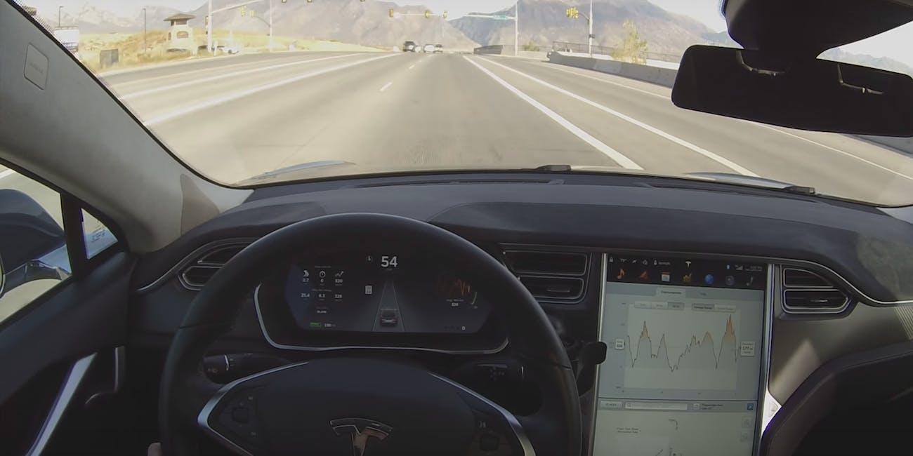 Tesla Model 3 autopilot.