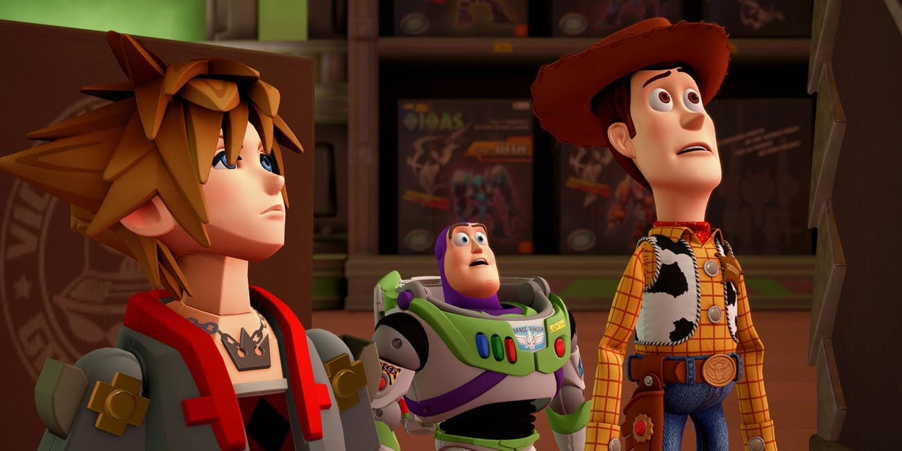 'Kingdom Hearts III' in a world based on 'Toy Story'