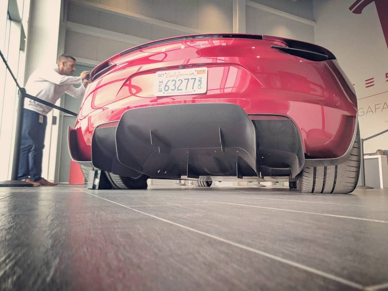 Tesla Roadster at Gigafactory.