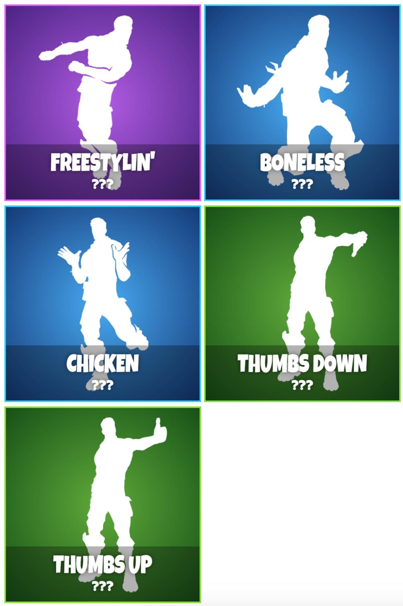 five new emotes discovered for fortnite season 4 - fortnite emotes season 4