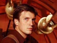 Nathon Fillion as Mal Reynolds in  Joss Whedon's 'Firefly'