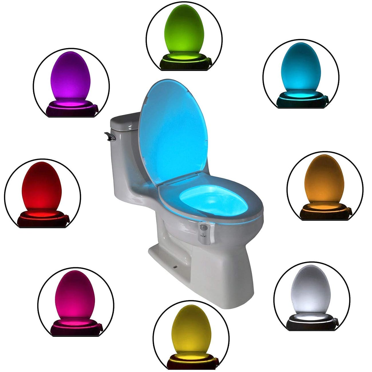 The Original Toilet Night Light Tech Gadget. Fun Bathroom Motion Sensor LED Lighting. Weird Novelty Funny Birthday Gag Gifts Ideas for Him Her Guys Men Dad Boys Toddlers Mom Papa
