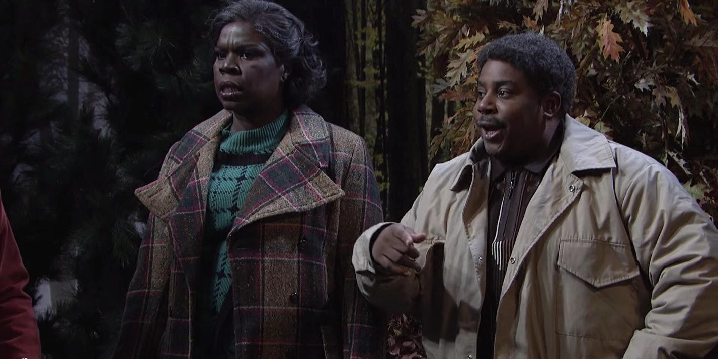 Leslie Jones and Keenan Thompson in the 'Stranger Things' sketch on 'SNL'