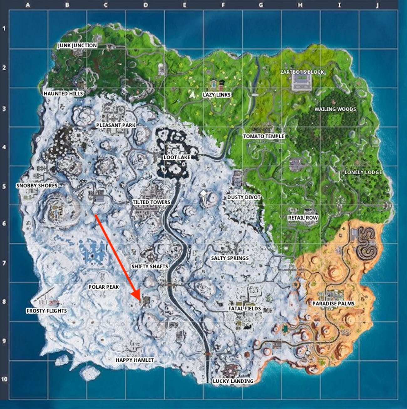Fortnite Week 9 Secret Battle Star Location Map Video