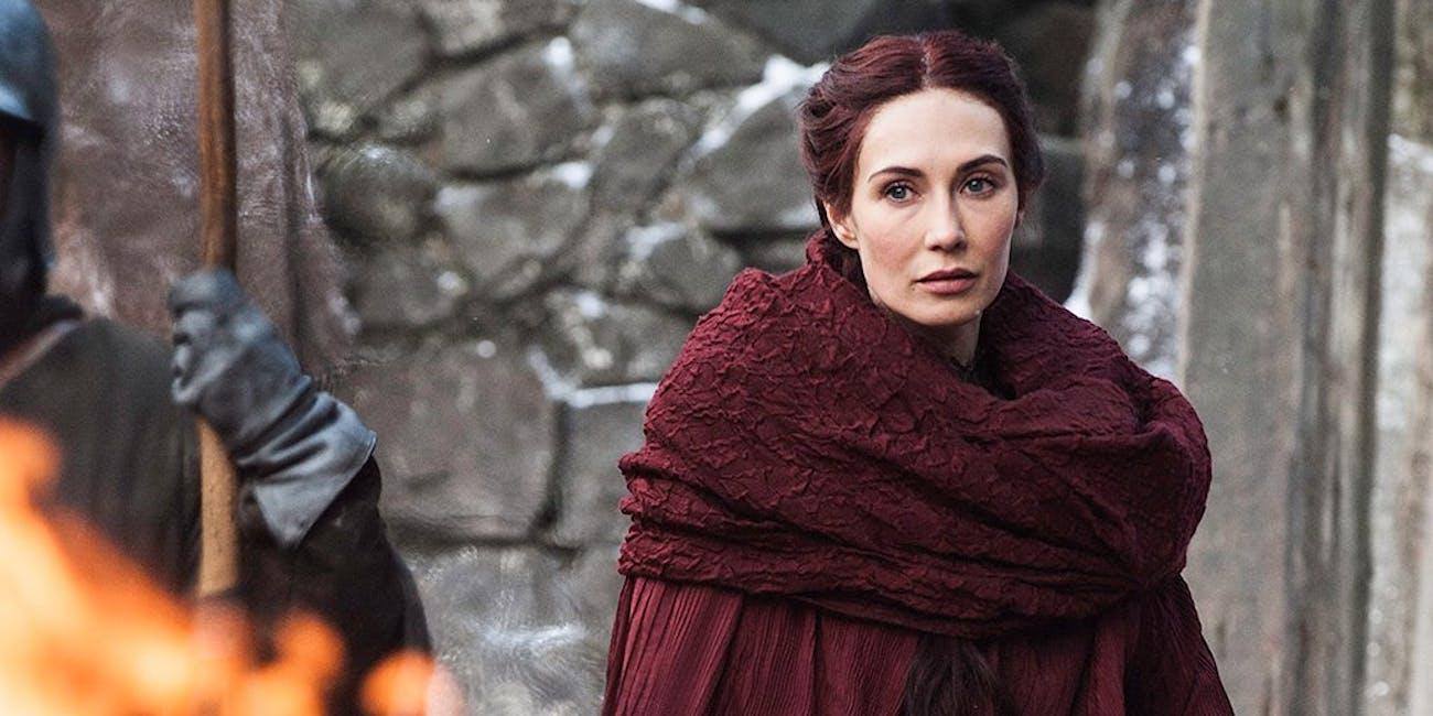 Melisandre (Carice Van Houten) in red robes on HBO's  'Game of Thrones'