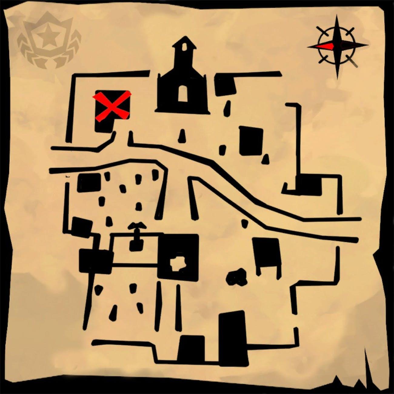 'Fortnite' Week 5 Challenge Treasure Map