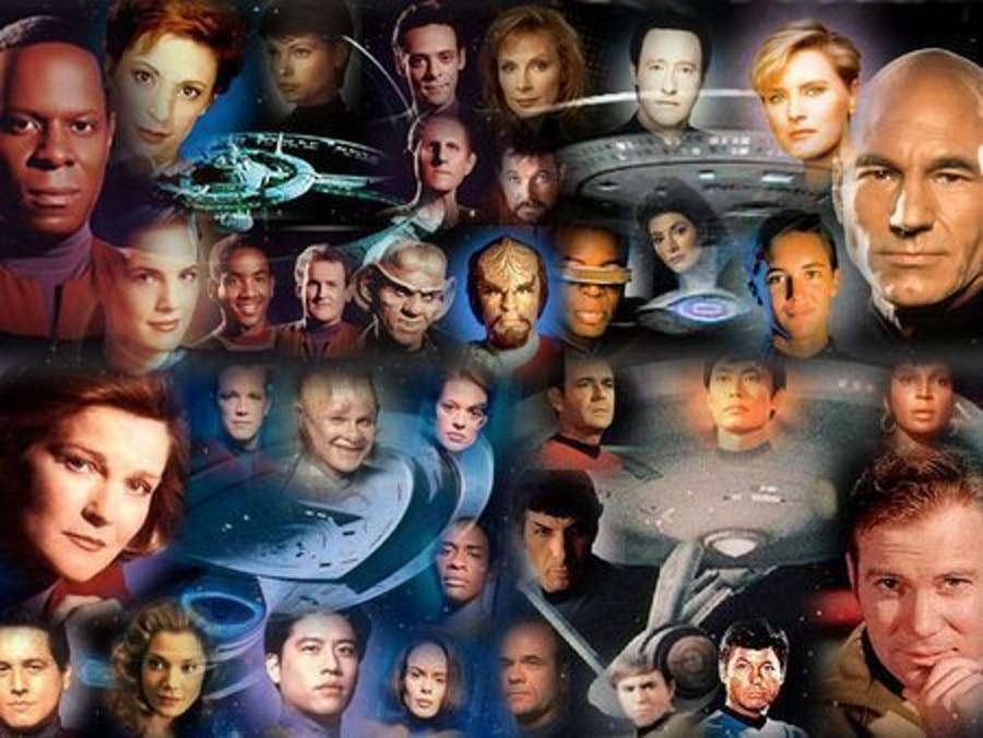 There's quite a few 'Star Trek' series on Netflix.