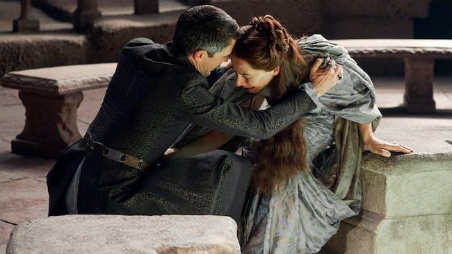 Petyr Baelish manipulates his short-term wife, Lyssa Arryn, in 'Game of Thrones'