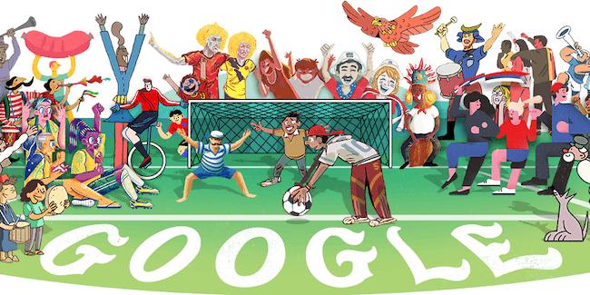 Google Doodle World Cup 2018