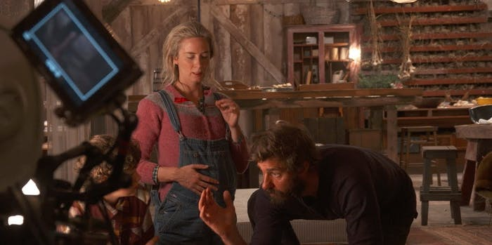 John Krasinski acting in and directing 'A Quiet Place'.