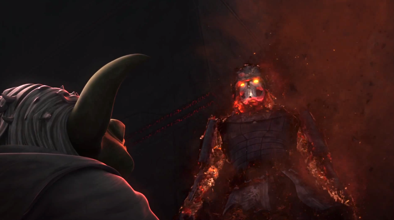 Yoda sees the spirit of Darth Bane in 'The Clone Wars'