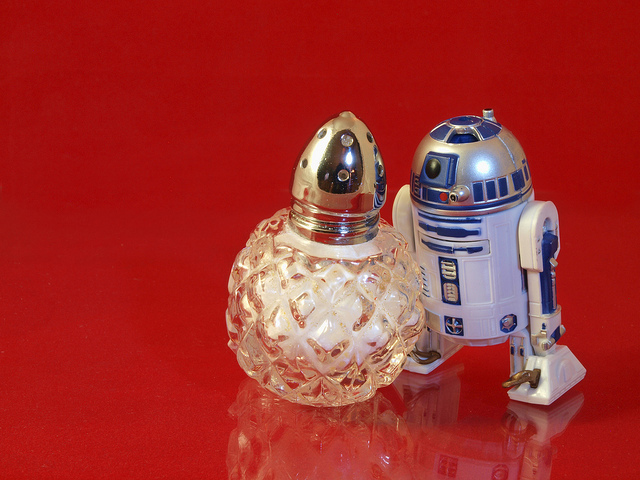 Maybe R2D2 likes salty bots.