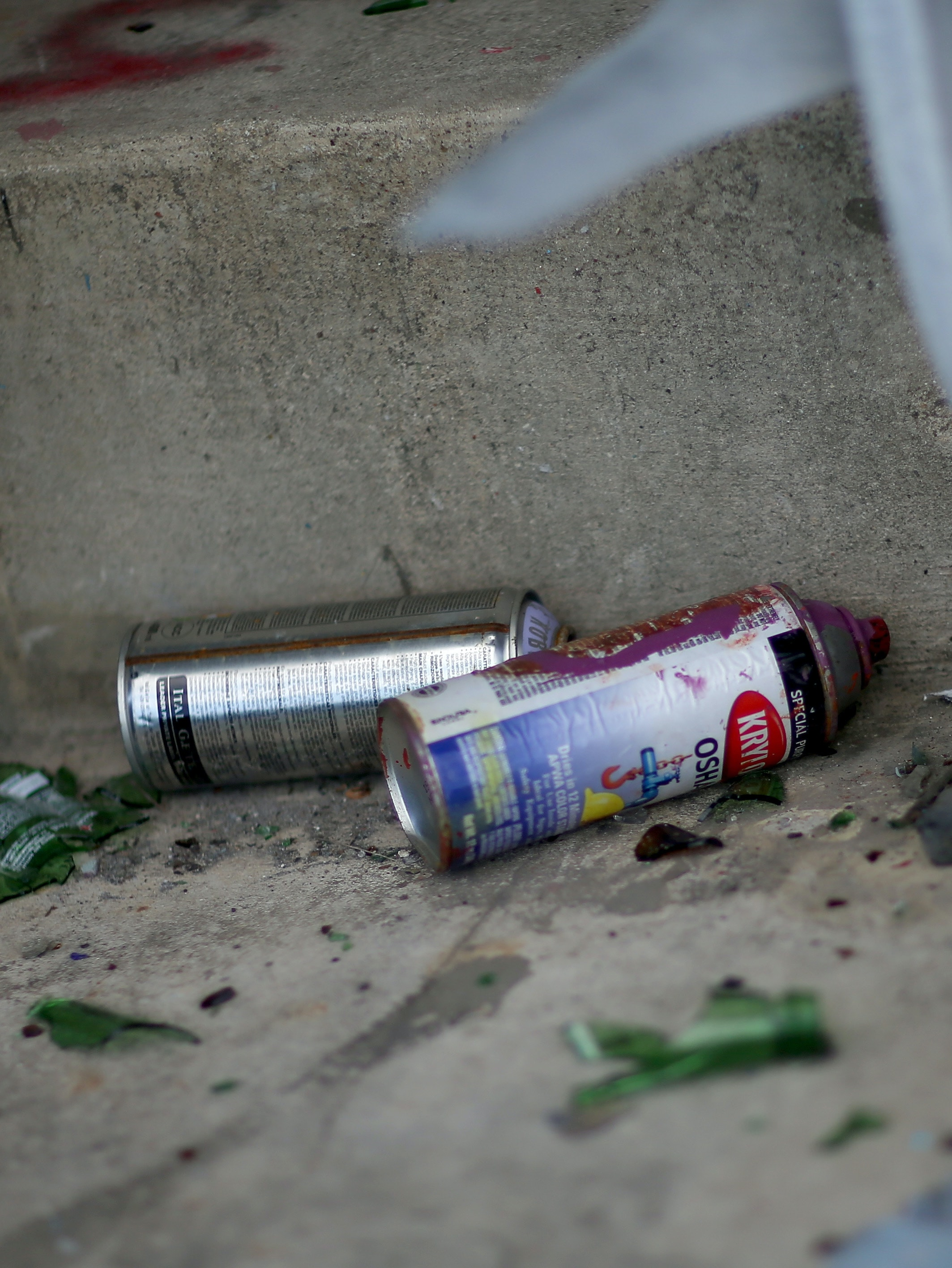 Abandoned spray paint cans are seen in the historic Miami Marine Stadium as city officials announced a plan to bring the Miami International Boat Show to the venue in 2016 and 2017 with hopes to renovate the site by raising $30 million for a restoration project on November 13, 2014 in Miami, Florida.  The 6,566-seat arena built in 1962 and abandoned after Hurricane Andrew in 1992 is the only stadium in the United States built for the purpose of watching power boat races and has been used for memorable concerts over the years until it was closed.