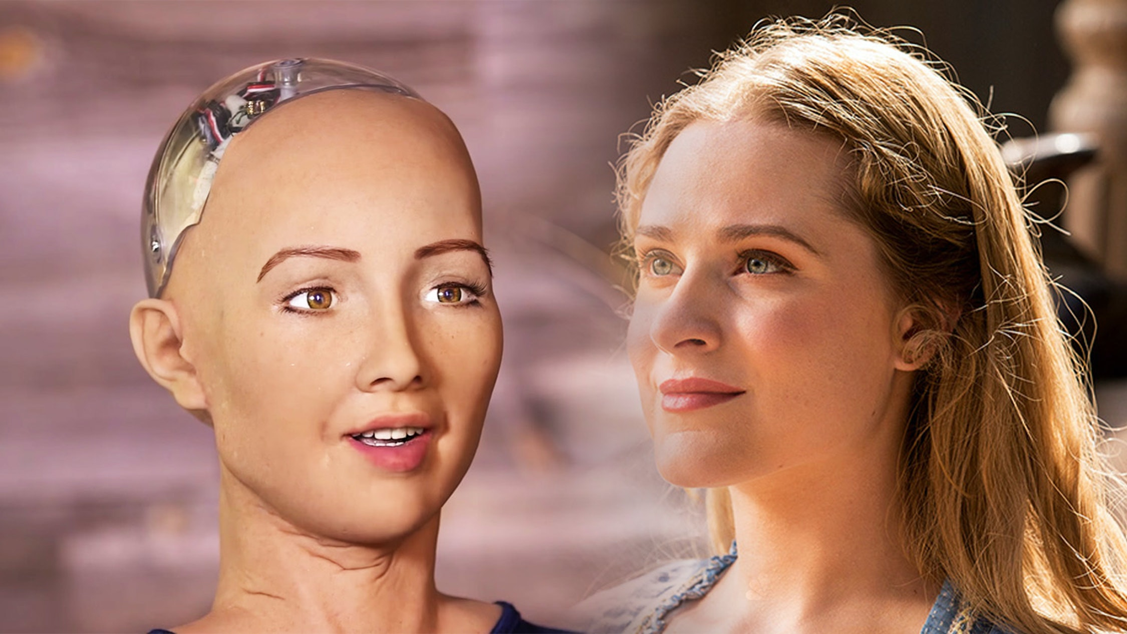 Sophia from Hanson Robotics, and Dolores Abernathy from 'Westworld.'