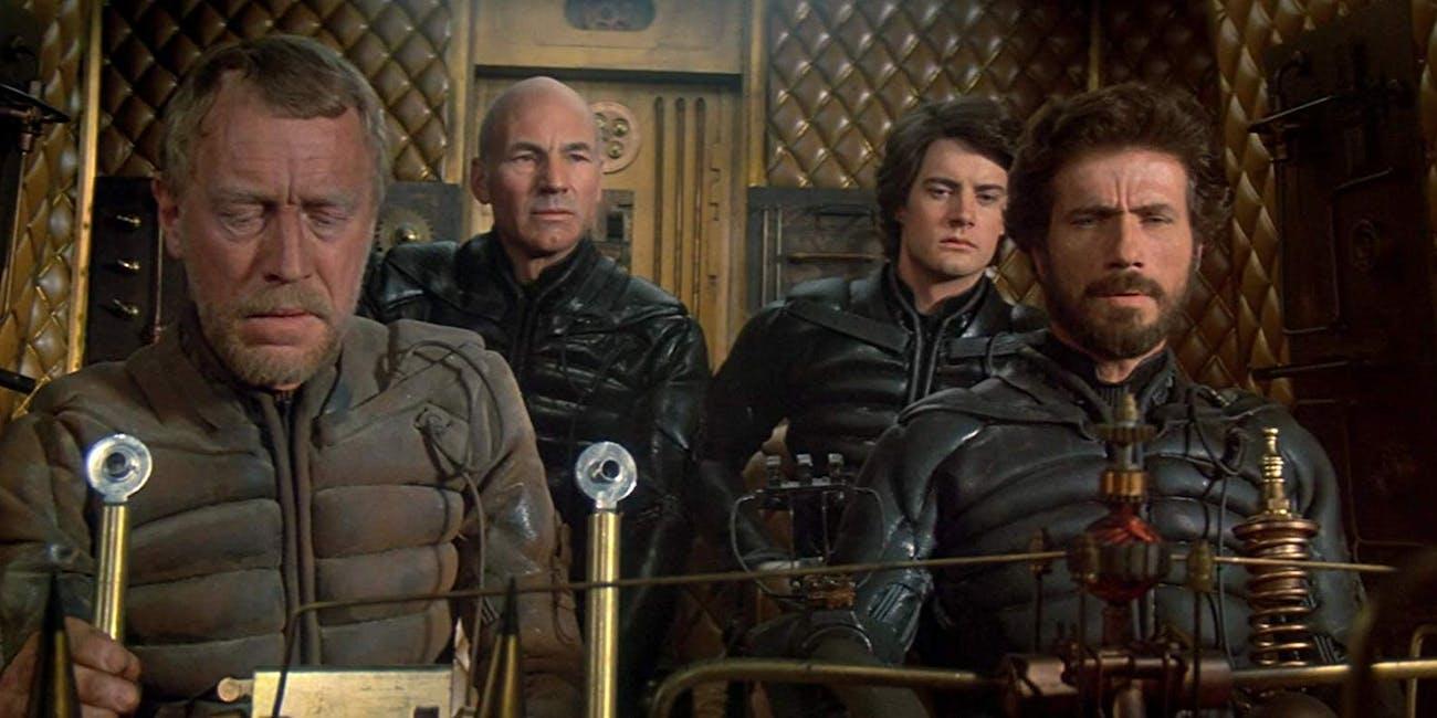 Max Von Sydow, Patrick Stewart, Kyle McLachlan, and Jurgen Prochnow in 1984's Dune