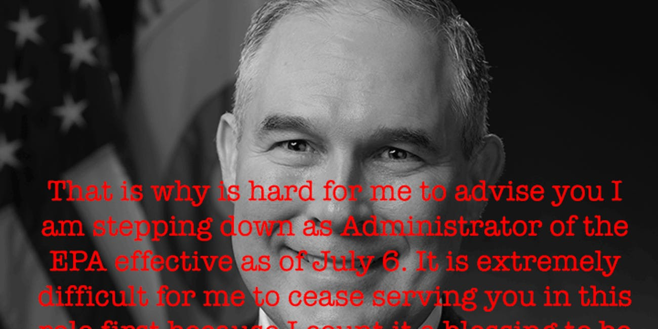 Scott Pruitt, EPA official portrait (cropped)