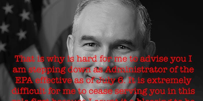 Scott Pruitt, EPA official portrait (cropped)
