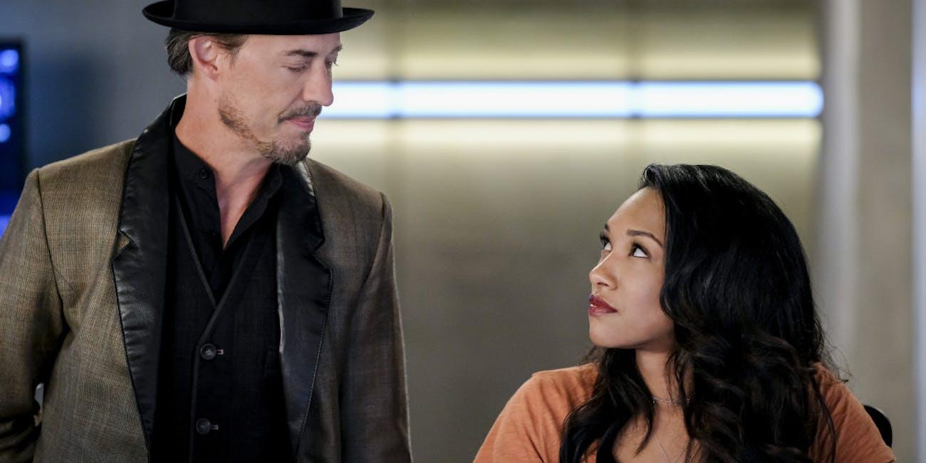 'The Flash' Sherloque Wells and Iris West-Allen