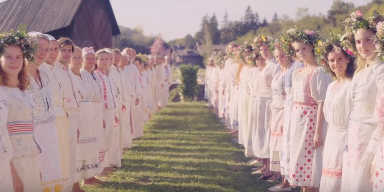 Still from the first teaser trailer for A24's 'Midsommar'