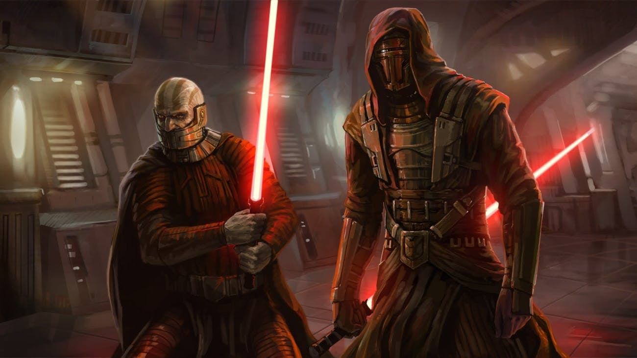 Darth Malak and Darth Revan, two of the scariest Sith to ever exist are from 'Knights of the Old Republic'.