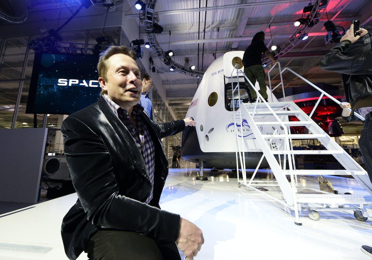 Elon Musk SpaceX headquarters