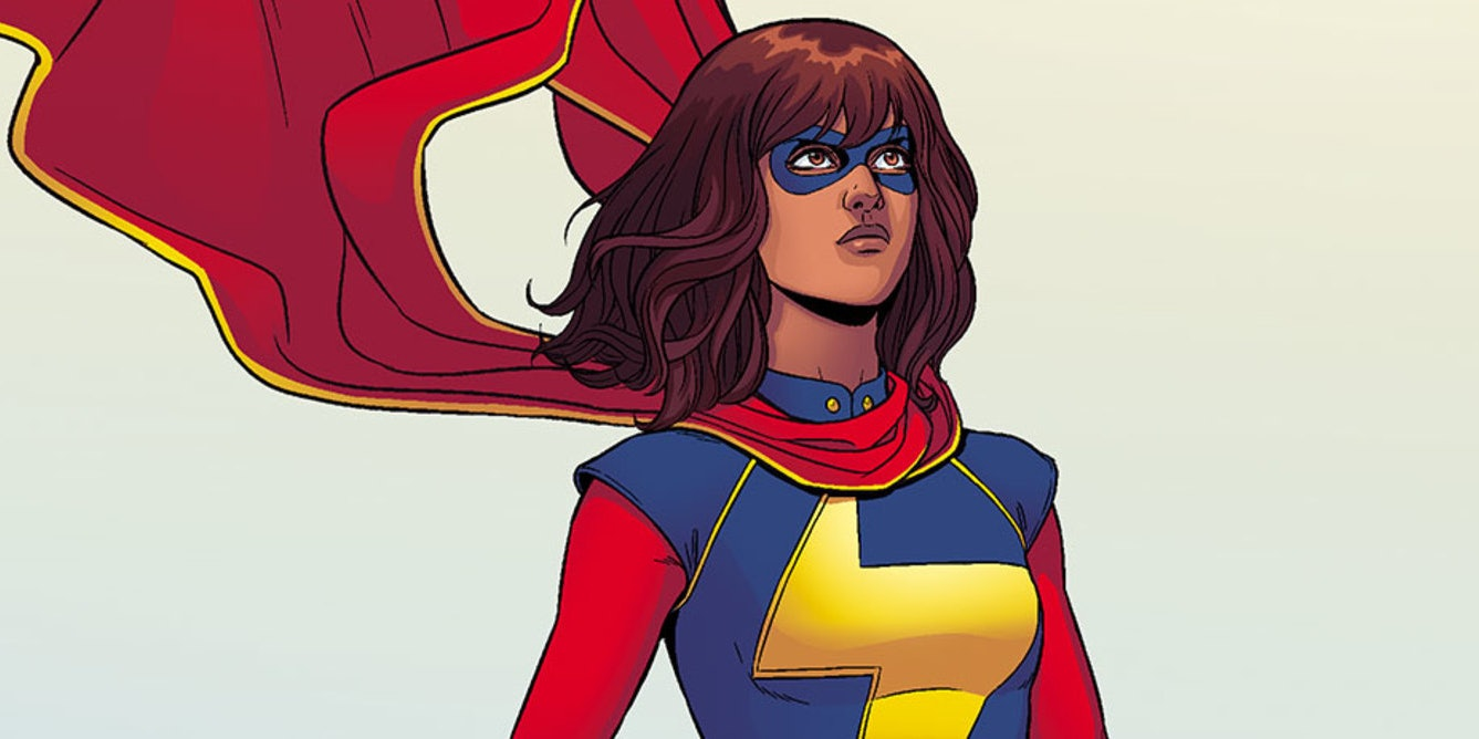 Kamala Khan is a Muslim, Pakistani-American teenager who fights crime in Jersey City.