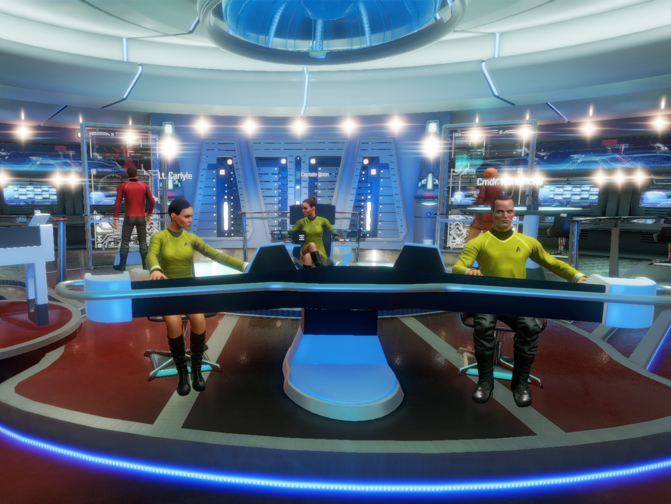 The in-game avatars of 'Star Trek: Bridge Crew' aren't eerily life-like or even graceful, but it gets the job done.