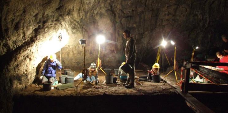 Neanderthal cave, Poland